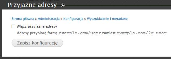 włączanie Clean URL