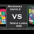 Micromax Unite 2 vs Nokia Lumia 630