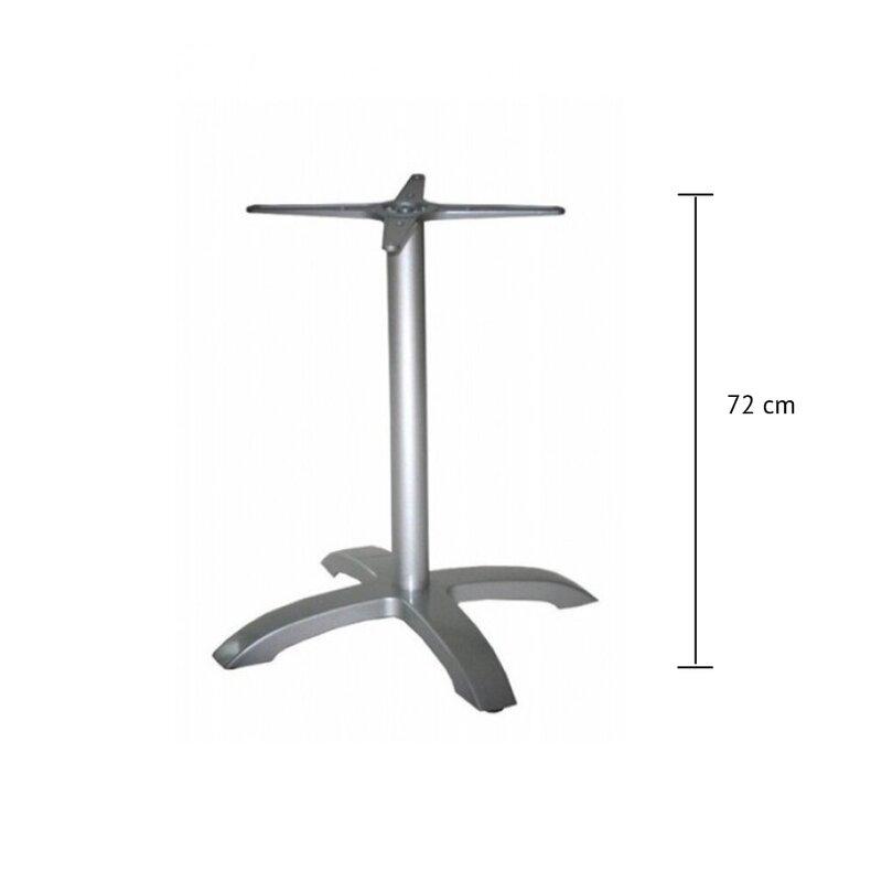 pied de table exterieur aluminium nepal haut 72 cm