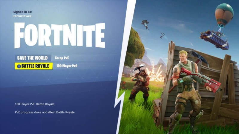 fortnite home menu