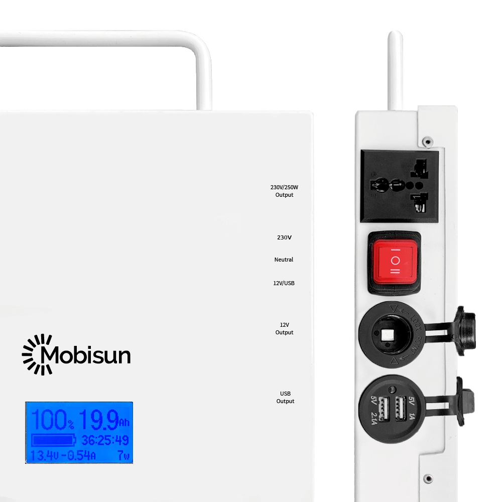 medium resolution of mobisun pro portable solar generator connections open