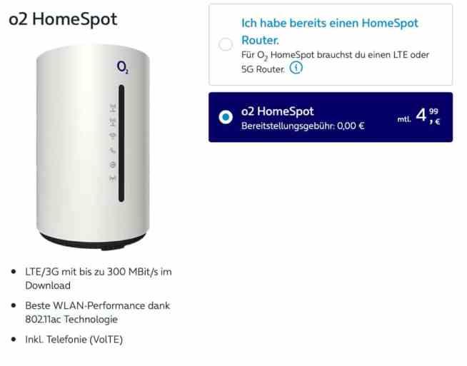 o2 HomeSpot Gerät