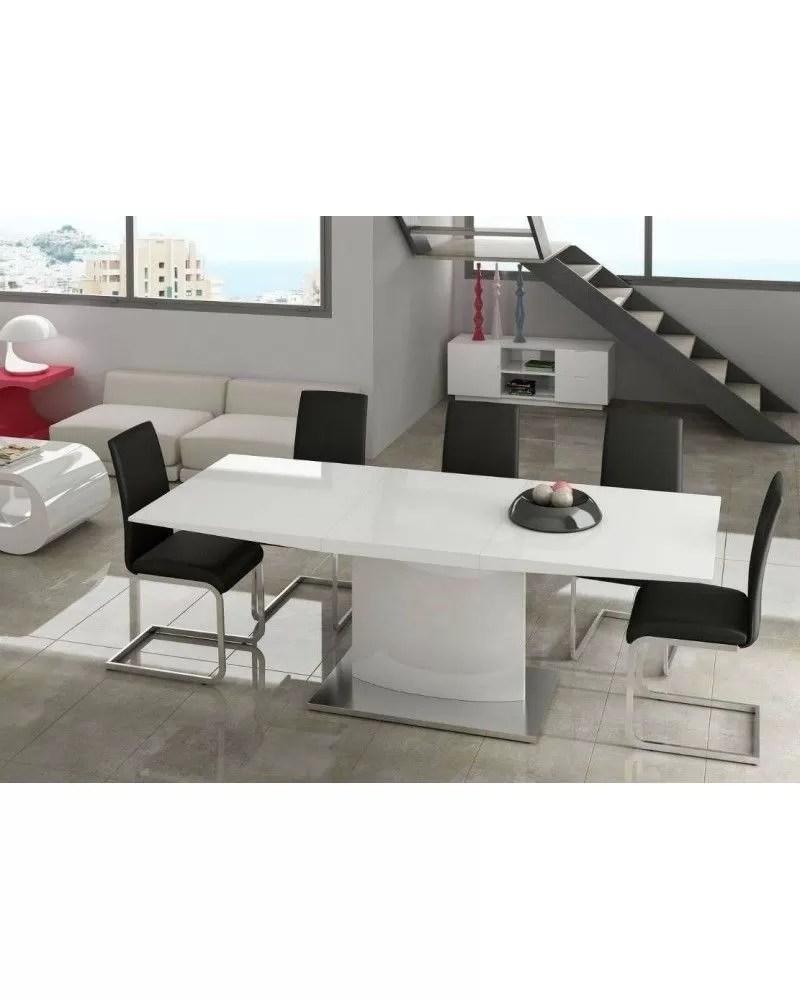 Mesa de comedor moderna lacado blanco 962Marta  Mobles