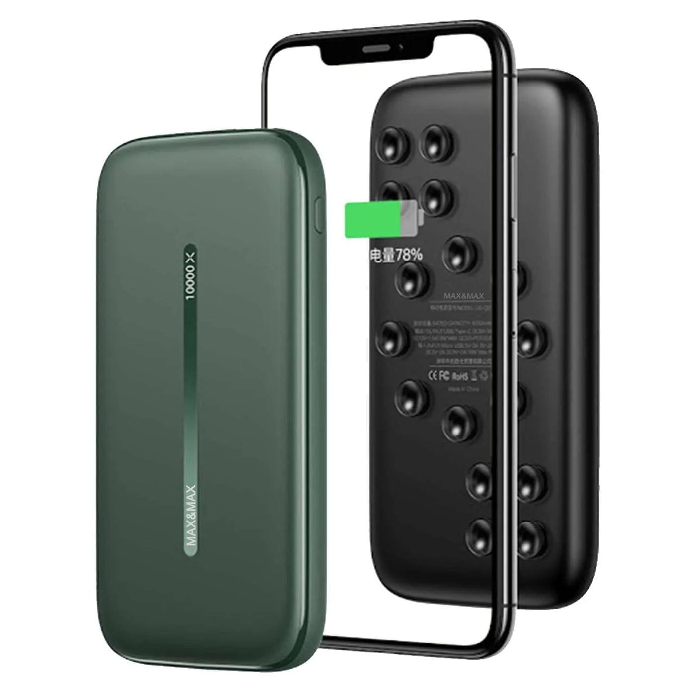 Max & Max Fast Charging Wireless Power Bank 10000 Mah
