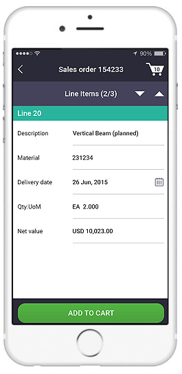 sap create sales order app