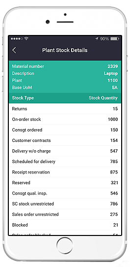sap stock overview mobile app