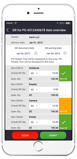 sap warehouse management system app