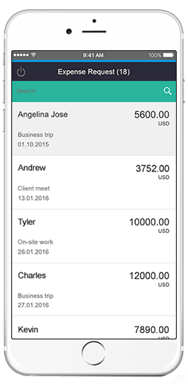 sap expense request app