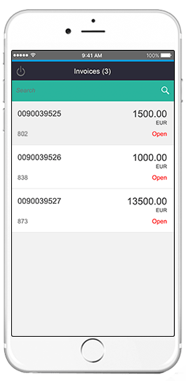 sap invoices app