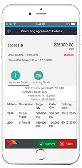 sap scheduling agreement details app