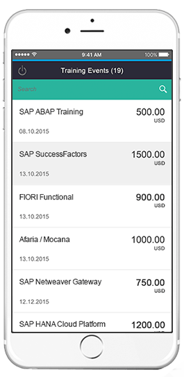 sap training events app