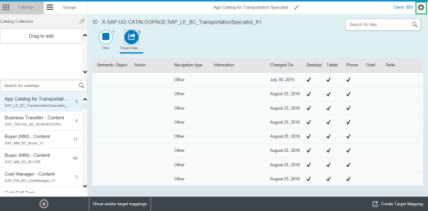 SAP Fiori Launchpad Assign transport requests