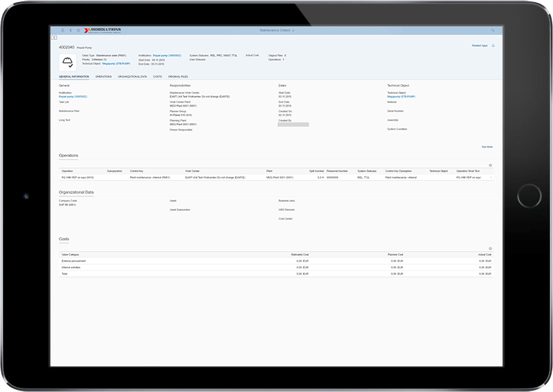 Fiori Find Maintenance Order App - SAP PM Fiori App