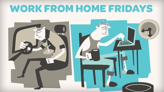 work from home fridays infographic