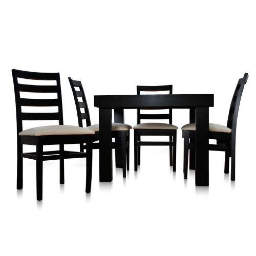 Comedor con 4 sillas Italia  Mobydec Muebles  Venta de