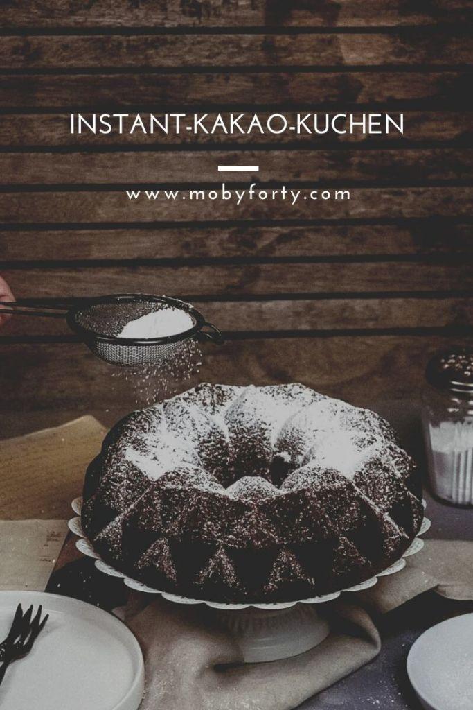 Pinterest Grafik für das Rezept des Instant-Kakao-Kuchen