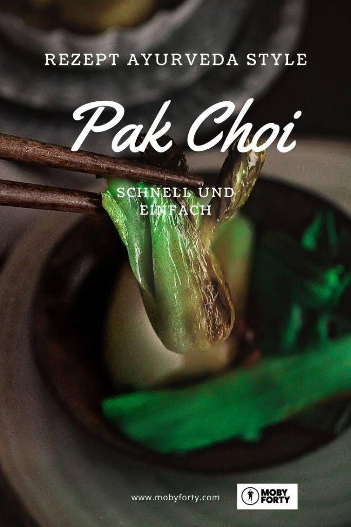 Pinterest Grafik zum Pak Choi Rezept
