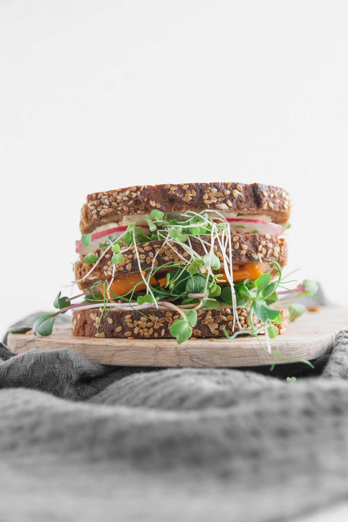 Sandwich mit Microgreens