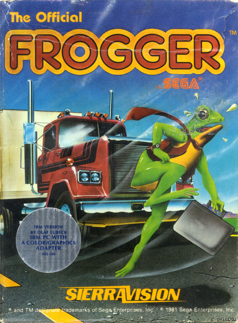 Frogger 1983 PC Booter box cover art  MobyGames