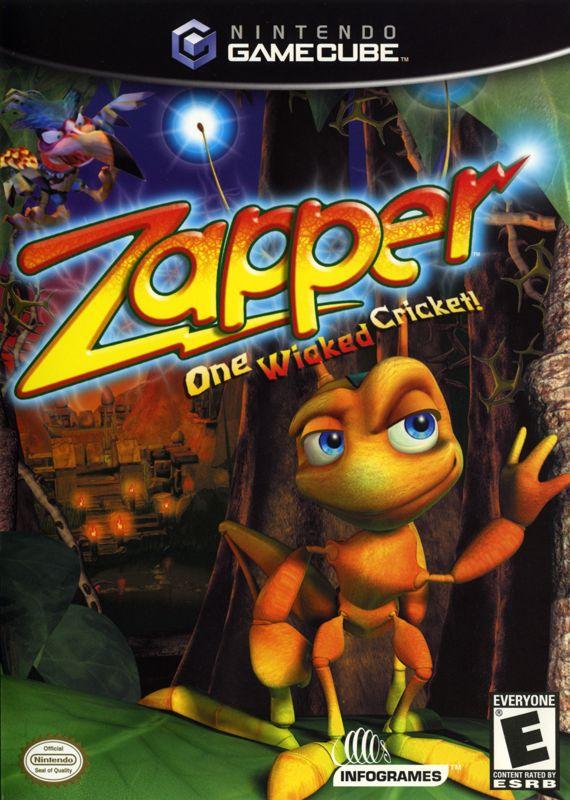 Zapper One Wicked Cricket 2002 GameCube box cover art