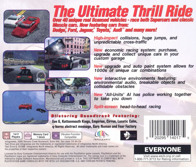 Test Drive 6 1999 Dreamcast box cover art  MobyGames