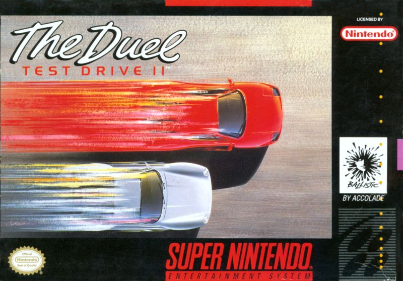 The Duel Test Drive II 1992 SNES box cover art  MobyGames