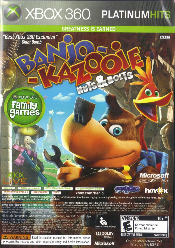 Banjo Kazooie Nuts And Bolts Viva Piata 2010 Xbox