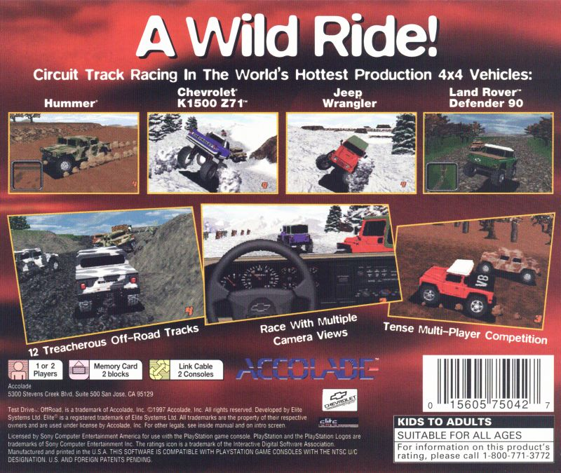 Test Drive OffRoad 1997 PlayStation box cover art
