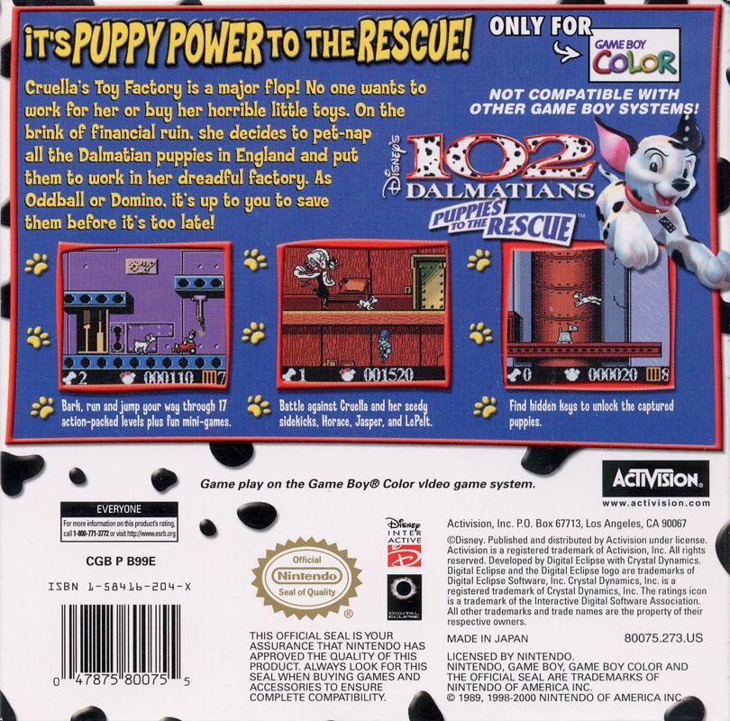 Disneys 102 Dalmatians Puppies to the Rescue 2000 Game