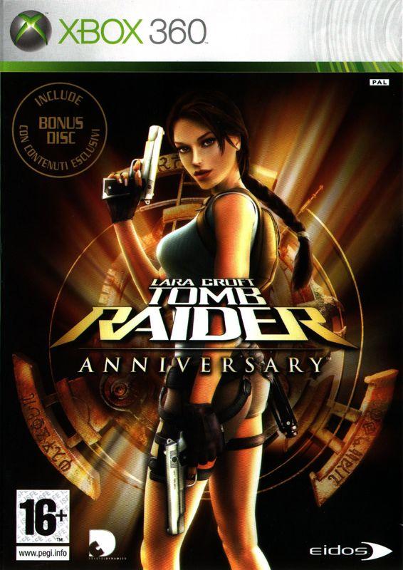 Lara Croft Tomb Raider Anniversary 2007 Xbox 360 Box Cover Art MobyGames