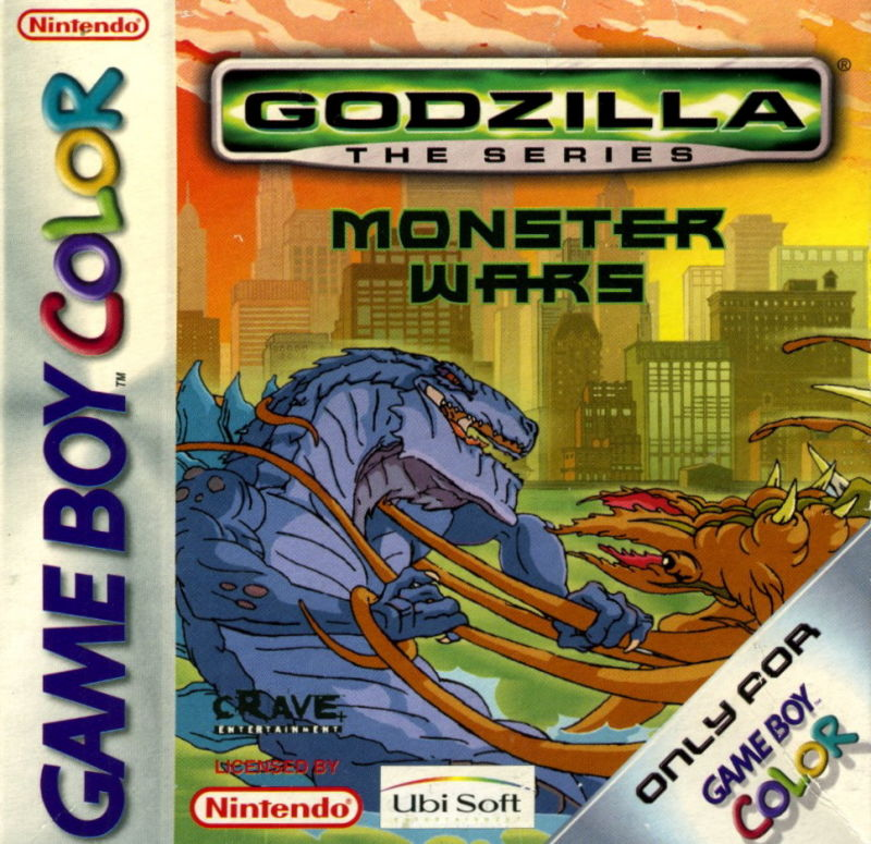 Godzilla: The Series - Monster Wars Game Boy Color Front Cover