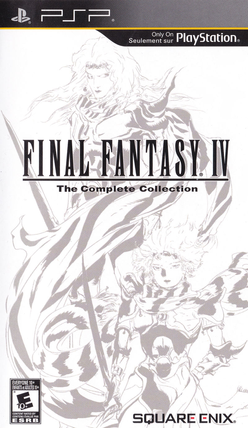 Final Fantasy Iv The Complete Collection 2011 Psp Box Cover Art Mobygames