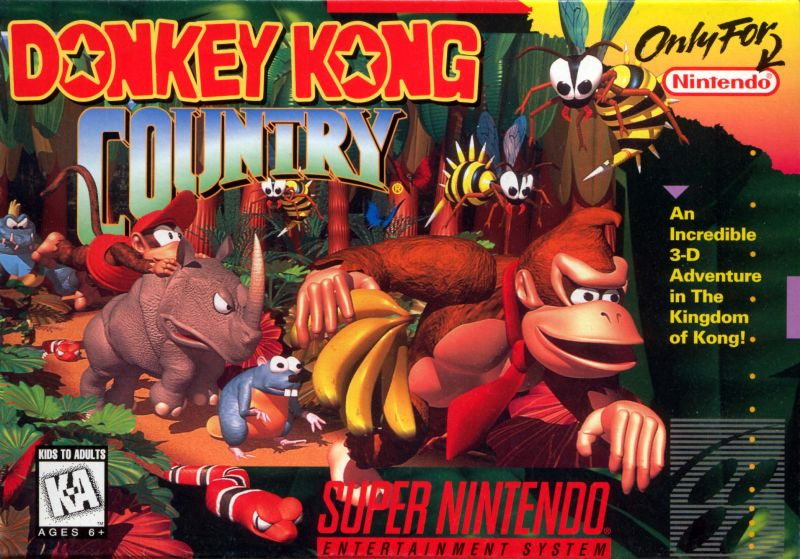 Image result for donkey kong country snes box art