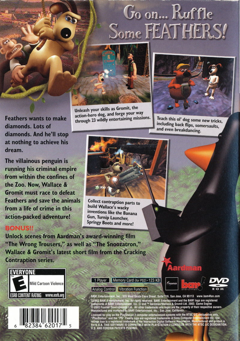 Wallace  Gromit in Project Zoo 2003 GameCube box cover art  MobyGames