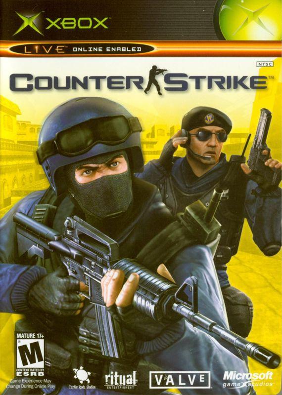 Half Life Counter Strike 2003 Xbox Box Cover Art