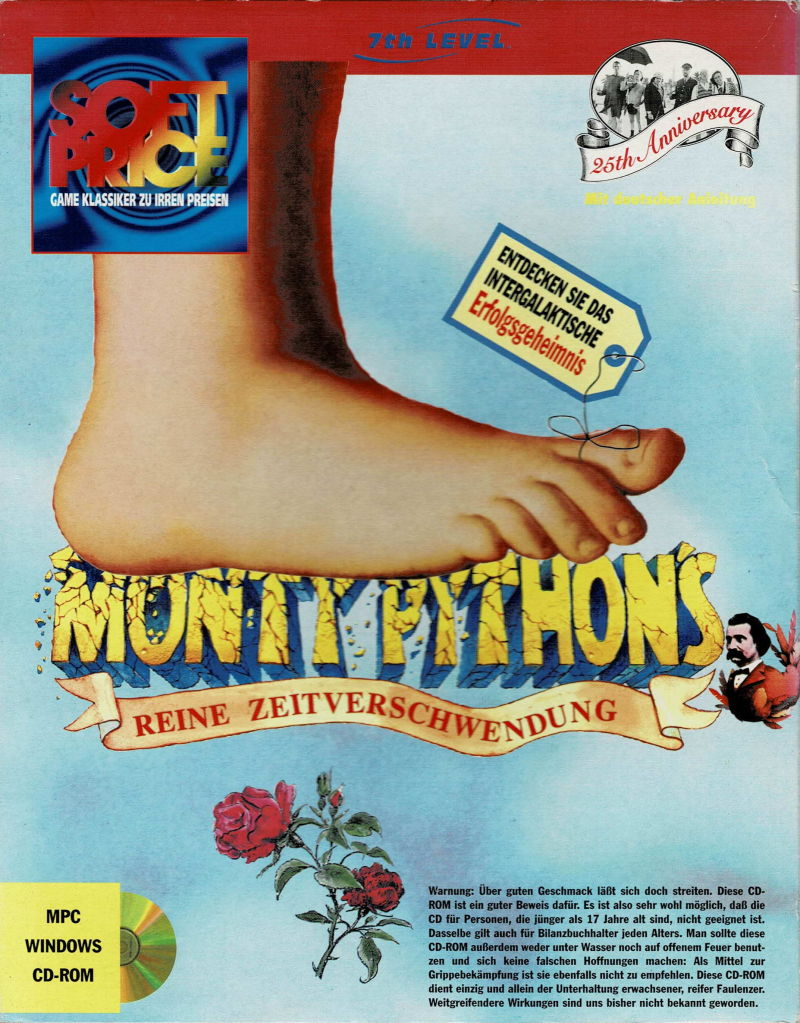 Monty Python's Complete Waste of Time (1995) Macintosh box cover art - MobyGames
