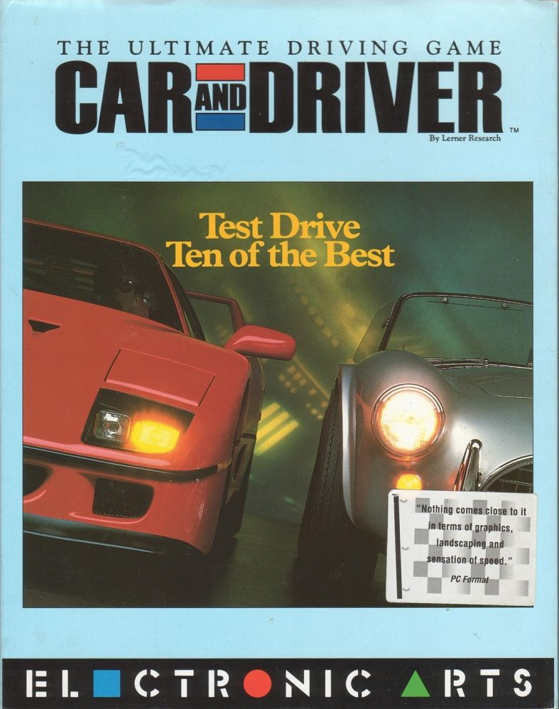 Car and Driver for DOS 1992  MobyGames
