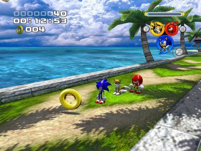 Sonic Heroes Windows Team Sonic in Seaside Hill (Demo Version)