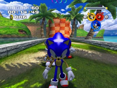 Sonic Heroes Windows Close-up of Sonic in Seaside Hill (Demo Version)
