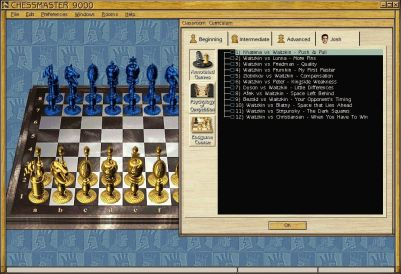 Chessmaster 9000 Windows International Grandmaster Josh Waitzkin offers some in-depth analysis for truly advanced students of chess.
