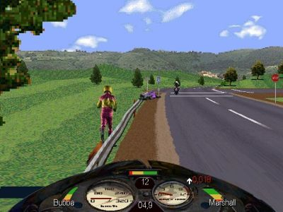 Road Rash Windows Running to get my bike. In this situation you loose valuable time