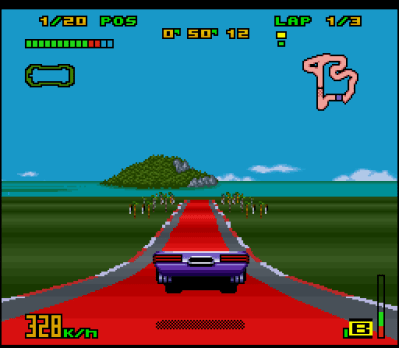 "Top Gear 3000 SNES Jumping with ""the face"" in the ""gasoline"". Radical!"