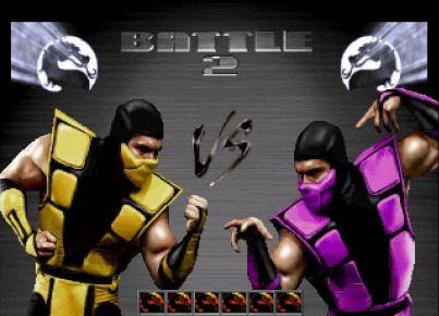 Mortal Kombat Trilogy Windows Two players mode.