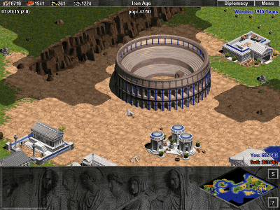 Age of Empires: The Rise of Rome Windows What is said to be the wonder of all wonders: The Coliseum