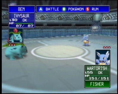 Pokémon Stadium Nintendo 64 Ivysaur and Wartortle face off