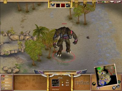 Age of Mythology: The Titans Windows Cerberus, another titan you have to deal with.