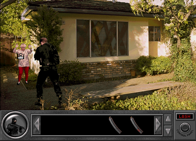 Daryl F. Gates' Police Quest: SWAT Windows 3.x DROP IT GRANDMA! EAT THE DIRT! GO! GO! GO!