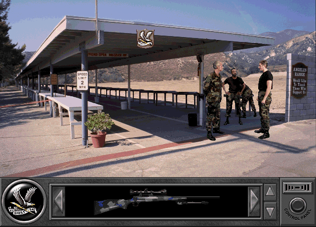 Daryl F. Gates' Police Quest: SWAT Windows 3.x Showing up for your first day of sniper training