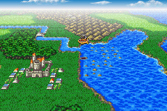 Final Fantasy II Game Boy Advance Controlling an airship