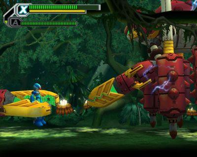 Mega Man X8 Windows Enemy has trapped Megaman.